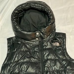 Black Hooded The North Face Vest size M